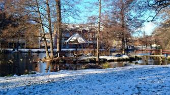 En vinterbild från Svartån, Tranås